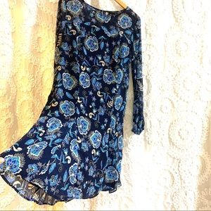 The Limited Long Sleeved Blue Dress